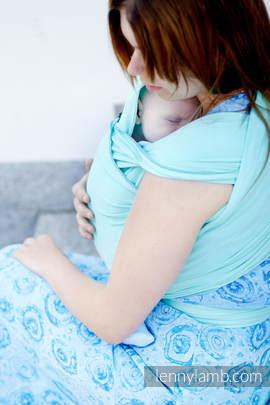 Chusta do noszenia dzieci, elastyczna - Turkus - rozmiar standardowy 5.0 m (drugi gatunek)