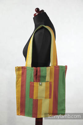 Shoulder bag made of wrap fabric (100% cotton) - INADIAN SUMMER - standard size 37cmx37cm