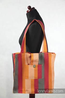 Torba na ramię z materiału chustowego, (100% bawełna) - Jesień - uniwersalny rozmiar 37cmx37cm