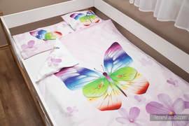 Baby Sheet Set - Butterflies (duvet cover 100x130cm, pillow 40x60cm,  little pillow40x40cm) (grade B)