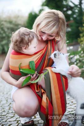 Baby Sling, Broken Twill Weave - Autumn - size S