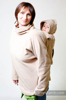Fleece Babywearing Jacket - Cafe latte - size S (grade B)