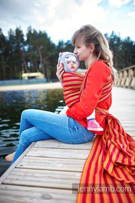 Baby Sling, Diamond Weave, 100% cotton - Soleil Diamond - size XS