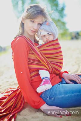 Baby Sling, Diamond Weave, 100% cotton - Soleil Diamond - size S