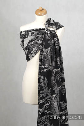 Ringsling, Jacquard Weave (100% cotton) - Time (without skull)