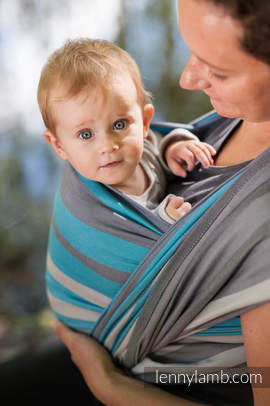 Baby Sling, Broken Twill Weave, 100% cotton,  Misty Morning - size M