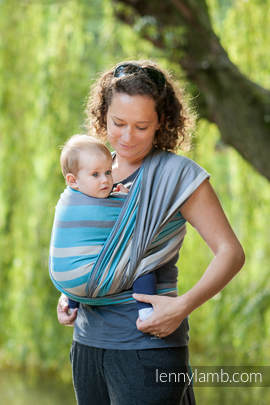 Baby Sling, Broken Twill Weave, 100% cotton,  Misty Morning - size L