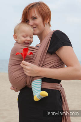 Baby Sling, Diamond Weave, 100% cotton - Brown Diamond - size L