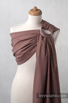 Ringsling, Diamond Weave (100% cotton) - Brown Diamond