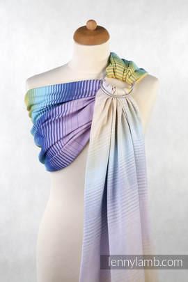 Żakardowa chusta kółkowa do noszenia dzieci, bawełna, ramię bez zakładek - JUBILEE (drugi gatunek)