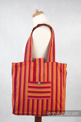 Shoulder bag made of wrap fabric (100% cotton) - SOLEIL DIAMOND - standard size 37cmx37cm