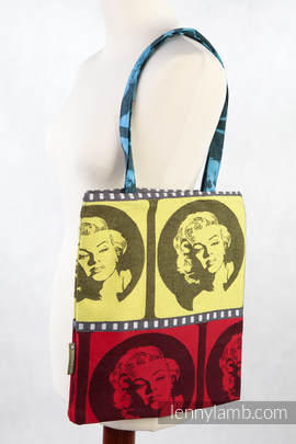 Shopping bag made of wrap fabric (100% cotton) - MOVIE STAR