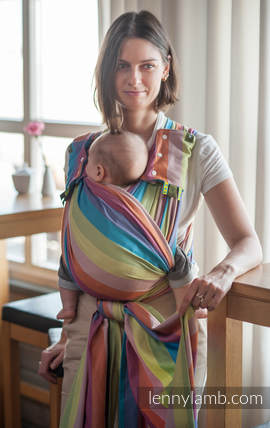 Baby Sling, Broken Twill Weave (100% Cotton) - CORAL REEF - size XL
